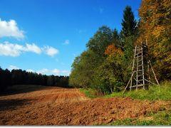 Sunny Autumn day near Aukstadvaris, LTU (2011/10/01) by <b>Jurgis Karnavicius</b> ( a Panoramio image )