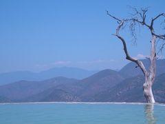 Un lugar para zambullirse en Hierve el Agua, Oax by <b>Mateo-traveler</b> ( a Panoramio image )