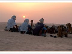 Sunset in Sahara by <b>Mrgud</b> ( a Panoramio image )