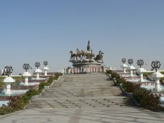 View to the monument to Ahal horse by <b>DXT 1</b> ( a Panoramio image )