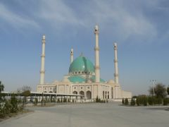 View to Geok-Tepe mosque from the road by <b>DXT 1</b> ( a Panoramio image )