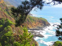Big Sur  Coastline along  Cabrillo Hwy California !! by <b>Sylvia & Roger</b> ( a Panoramio image )