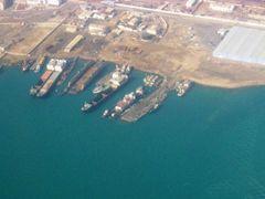 Cargo Terminal. Turkmenbashy, Turkmenistan by <b>Igor Sinchevici</b> ( a Panoramio image )