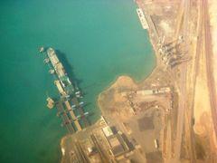 Vessel in Cargo Terminal Turkmenbashy. Turkmenistan by <b>Igor Sinchevici</b> ( a Panoramio image )