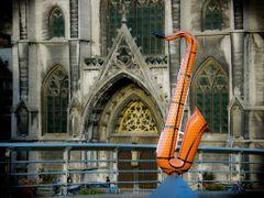 Sax on the Bridge by <b>Knossel</b> ( a Panoramio image )