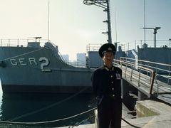 Navy Veteran in front of Captured USS Pueblo by <b>zerega</b> ( a Panoramio image )