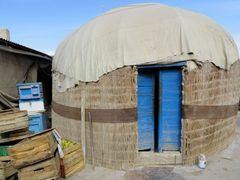 Reed-Woven Yurt at Konye Urgench, Turkmenistan by <b>laurac5</b> ( a Panoramio image )