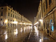 Heavy rain on Stradun - Dubrovnik by <b>Ahmet Bekir</b> ( a Panoramio image )