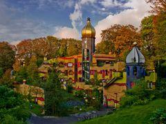 Das Hundertwasser-Haus im Grugapark in Essen. by <b>Reiner Vogeley</b> ( a Panoramio image )