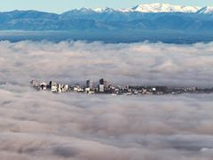 City in fog - Christchurch CBD as it was... by <b>clickNZ</b> ( a Panoramio image )