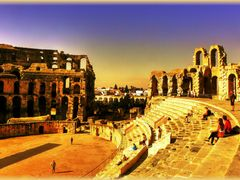 Amphitheater in El Djem by <b>birgitju</b> ( a Panoramio image )