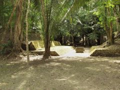 "BELIZE: LAMANAI: Ballcourt with ""largest known ballcourt marker"" by <b>Douglas W. Reynolds, Jr.</b> ( a Panoramio image )"
