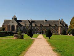 Paimpont church and abbaye by <b>BritPlom</b> ( a Panoramio image )