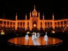 """The Lake of the Swans"" - Tivoli by Night, Copenhagen, Denmark by <b>Jan Sognnes</b> ( a Panoramio image )"