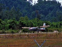 Twin Otter Mulu NP Airfield by <b>Henk van Es</b> ( a Panoramio image )