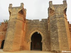 Porte principale - Necrople de Chellah , Rabat  by <b>elakramine</b> ( a Panoramio image )