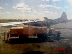 Заправка самолёта в Кустанае. by <b>malojpos</b> ( a Panoramio image )