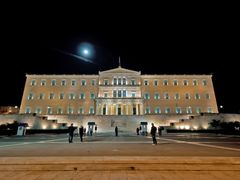 The Greek Parliament: The threat of the Moon by <b>varkos</b> ( a Panoramio image )
