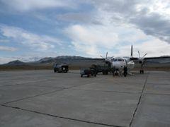 Olgii Airport (Aero Mongolia Fokker 50) by <b>motsu</b> ( a Panoramio image )