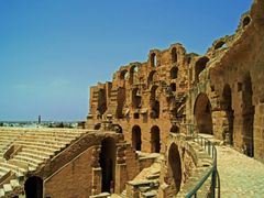 Amphitheatre, El-Jem, Tunisia by <b>Hamed Ansari</b> ( a Panoramio image )