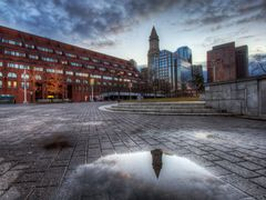 A reflection of Custom House Tower after rain. by <b>Vath</b> ( a Panoramio image )