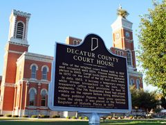 Decatur County Courthouse in Greensburg, Indiana by <b>JessicaNunemaker</b> ( a Panoramio image )