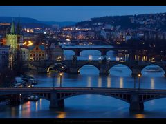 Prague Bridges by <b>Vadim Balakin</b> ( a Panoramio image )