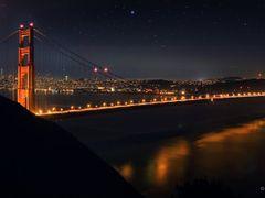 San Francisco Golden Gate Bridge Night Light by <b>Joe_Lourenco</b> ( a Panoramio image )