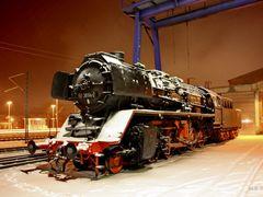 Lok 50 3694-2 der MEF im Schnee by <b>Mecklenburg pro Panoramio</b> ( a Panoramio image )