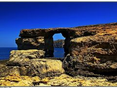 Kek ablak - Azure Window © by <b>Dezso Biczo ©</b> ( a Panoramio image )