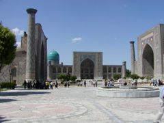 Samarkand Registan by <b>Sasin</b> ( a Panoramio image )
