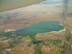 Kimberley, Kamfers Dam from the air  by <b>Graham Martin</b> ( a Panoramio image )