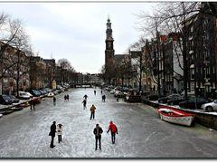 "Winter in Amsterdam with ""Westerkerk"" and ""Prinsengracht""  by <b>© c.vandermeijden</b> ( a Panoramio image )"