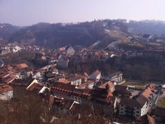 090 Fribourg, Blick von der Route des Alpes auf Neuveville und P by <b>Daniel Meyer</b> ( a Panoramio image )