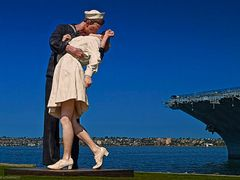 San Diego California Unconditional Surrender Statue Next to the  by <b>Joe_Lourenco</b> ( a Panoramio image )