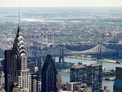 New York, beautiful Queensboro Bridge, seen from Empire State Bu by <b>Merz_Rene</b> ( a Panoramio image )