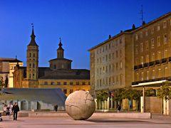 Fuente de la Hispanidad y San Juan de los Panetes, (Zaragoza) by <b>CarmenT</b> ( a Panoramio image )