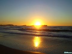 Oualidia Beach, the sunset by <b>elakramine</b> ( a Panoramio image )