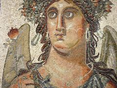 Tripoli - Museum -  Roman mosaic figuring the autumn season by <b>Cottius</b> ( a Panoramio image )
