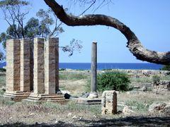 Ptolemais - What remains of the roman arc de triomphe...(emperor by <b>Cottius</b> ( a Panoramio image )
