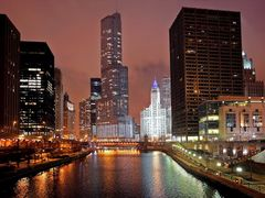 Chicago at night by <b>Georgy K</b> ( a Panoramio image )