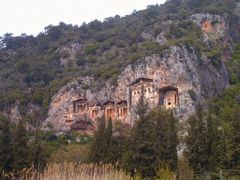 Dalyan,Kaunos rock tombs in Hellenistic styles by <b>Suzen N</b> ( a Panoramio image )