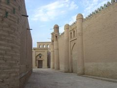 Khiva-nobody on the street by <b>Perinic D</b> ( a Panoramio image )