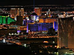 Las Vegas at night from the Stratosphere Hotel Roof. by <b>Konstantin Khrapko</b> ( a Panoramio image )