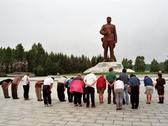 Samjiyon Great Leader Monument by <b>eugeniobb</b> ( a Panoramio image )
