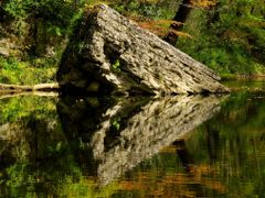 The Symmetry of Nature - Autumn Reflections (Red River Gorge, KY by <b>Kalin Ranchev</b> ( a Panoramio image )