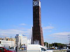 """l""""horloge de la Place du 7 novembre by <b>Jackie Gomez-Blasco</b> ( a Panoramio image )"""