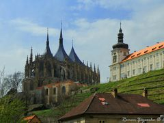 Cathedrals in the Czech Republic. Cathedral of St. Barbara in Ku by <b>Roman Zazvorka</b> ( a Panoramio image )