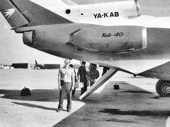 На военно-гражданском аэродроме Мазари-Шарифа. Як-40 и МиГ-21. 1 by <b>Сургуль</b> ( a Panoramio image )