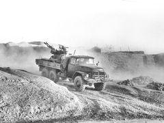 "Truck gunship. Qala-e-Naw. Калай-Нау. ЗУ-23-2 (половина ""шайтан  by <b>Сургуль</b> ( a Panoramio image )"